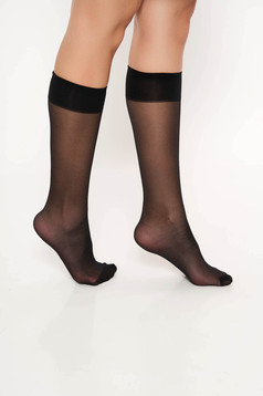 Black tights & socks from elastic fabric pressure-free border with runstop