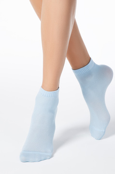 Lightblue sock from elastic fabric net stockings