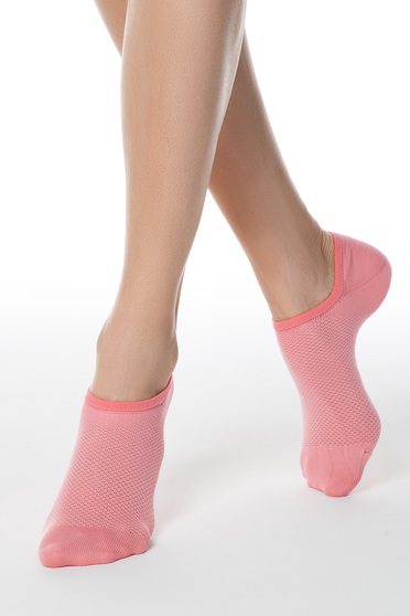 Pink tights & socks from elastic fabric net stockings fitted heel