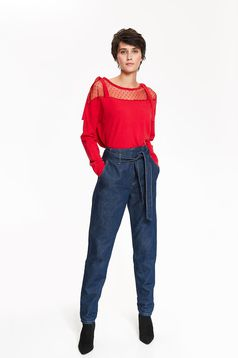 Top Secret red flared casual sweater long sleeve knitted fabric