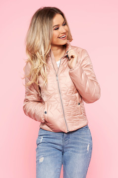 Top Secret pink casual from slicker jacket with inside lining with pockets