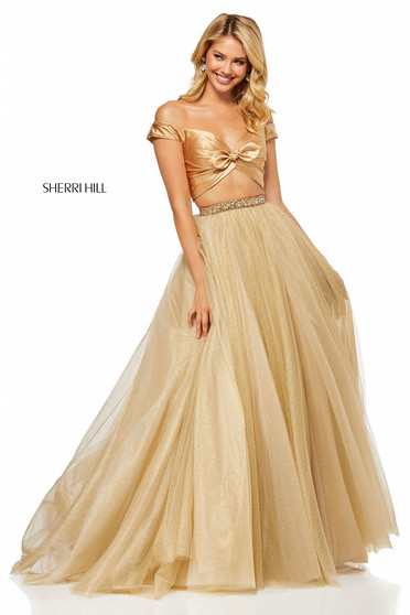 Sherri Hill 52406 Gold Dress