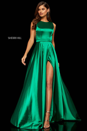 Sherri Hill 52407 Green Dress