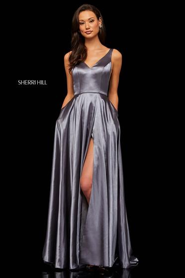 Sherri Hill 52410 Grey Dress