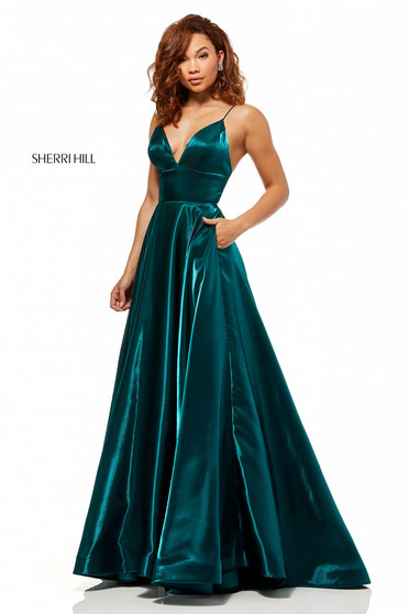 Sherri Hill 52424 Green Dress