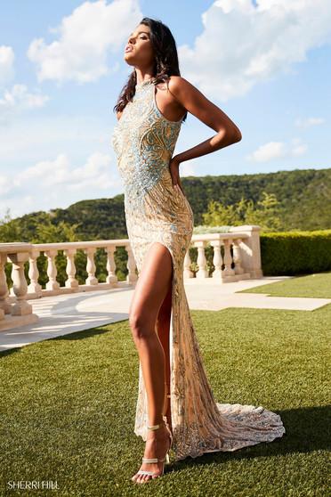 Sherri Hill 52426 Gold Dress