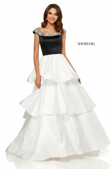 Sherri Hill 52427 White Dress