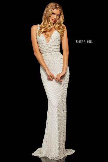 Sherri Hill 52453 White Dress
