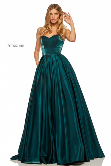 Sherri Hill 52456 DarkGreen Dress