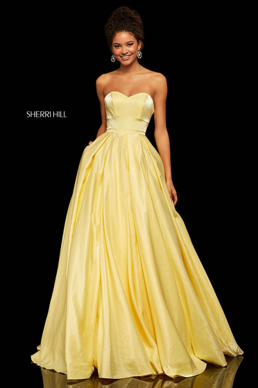 Sherri Hill 52456 Yellow Dress