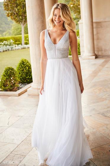 Sherri Hill 52463 White Dress