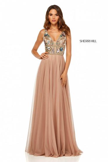Sherri Hill 52473 Nude Dress