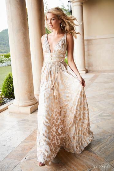 Sherri Hill 52474 White Dress
