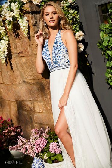 Sherri Hill 52475 White Dress
