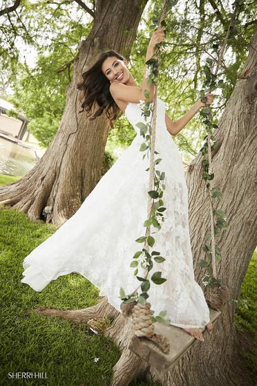 Sherri Hill 52477 White Dress
