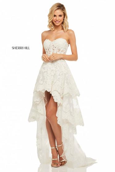 Sherri Hill 52513 White Dress