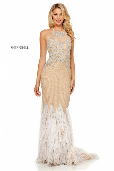 Sherri Hill 52517 Nude Dress
