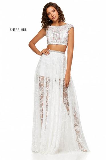 Sherri Hill 52519 White Dress