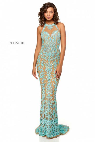 Sherri Hill 52527 Aqua Dress