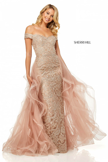 Sherri Hill 52556 Gold Dress