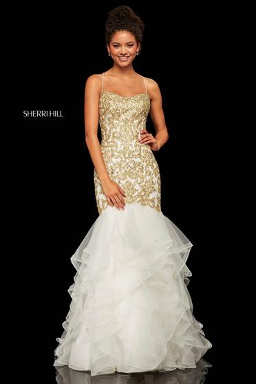 Sherri Hill 52560 White Dress