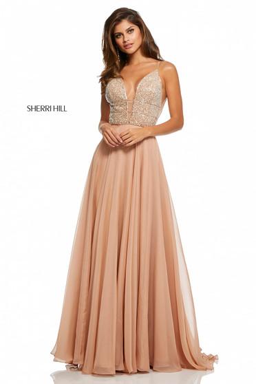 Sherri Hill 52589 Nude Dress