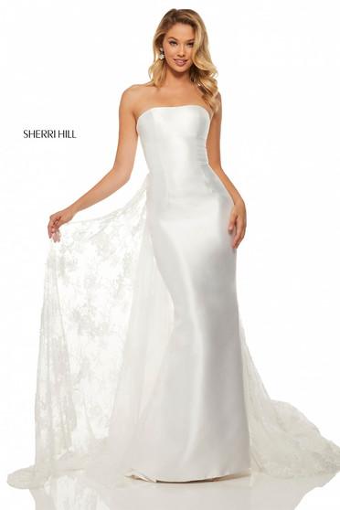 Sherri Hill 52594 White Dress
