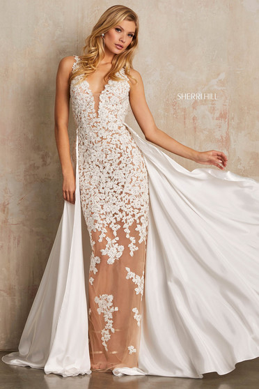 Sherri Hill 52599 White Dress