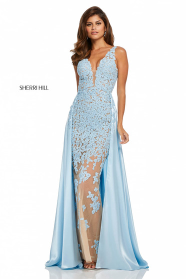 Sherri Hill 52599 Blue Dress