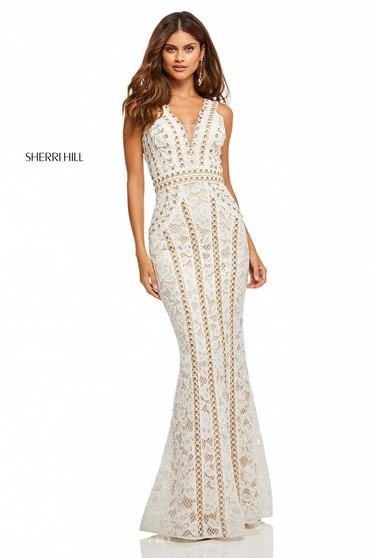 Sherri Hill 52611 White Dress