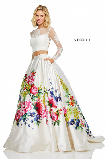 Sherri Hill 52625 White Dress