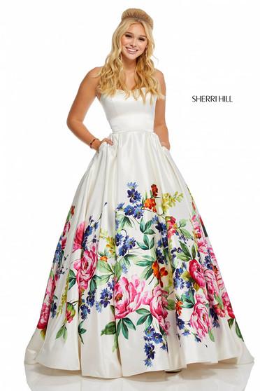 Sherri Hill 52626 White Dress