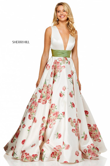 Sherri Hill 52632 White Dress