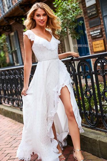 Sherri Hill 52643 White Dress