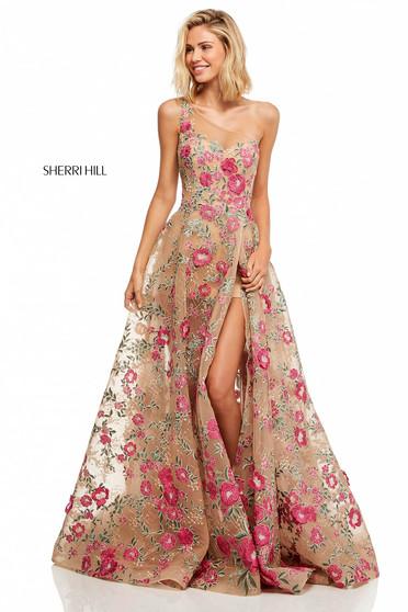 Sherri Hill 52658 Nude Dress