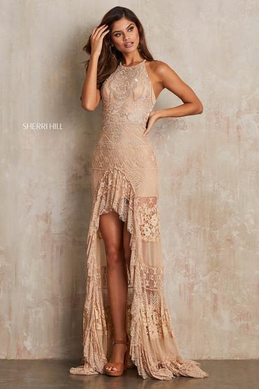 Sherri Hill 52663 Nude Dress