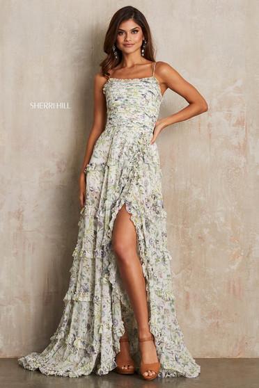 Sherri Hill 52665 White Dress