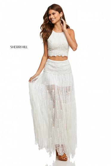 Sherri Hill 52671 White Dress