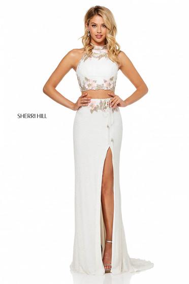 Sherri Hill 52682 White Dress