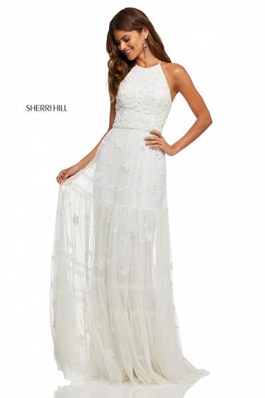 Sherri Hill 52687 White Dress