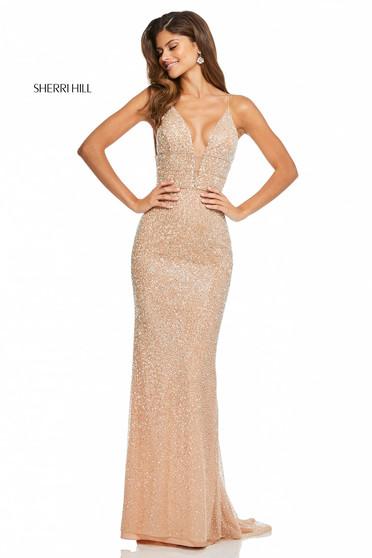 Sherri Hill 52689 Nude Dress