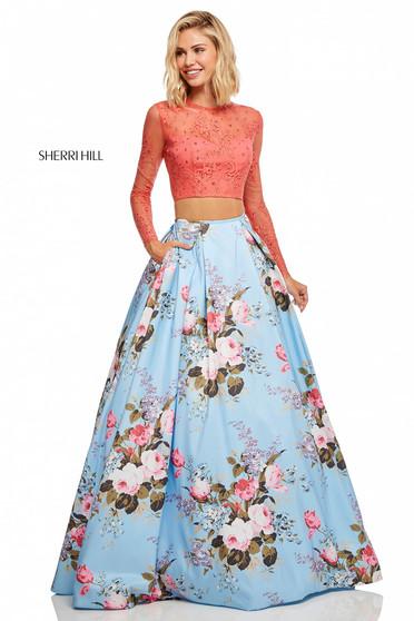 Sherri Hill 52717 Blue Dress