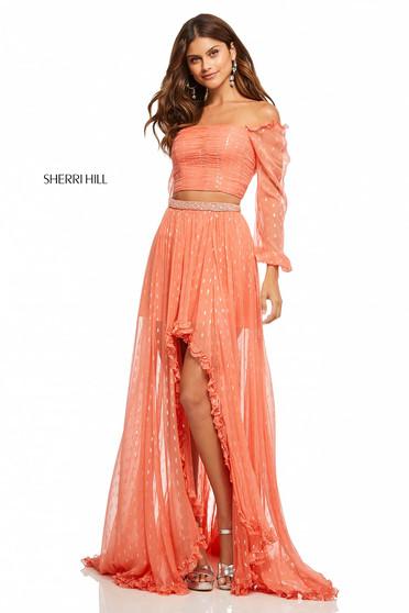 Sherri Hill 52756 Orange Dress