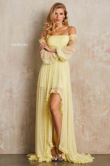 Sherri Hill 52756 Yellow Dress