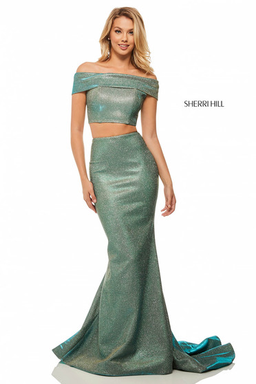 Sherri Hill 52757 Aqua Dress