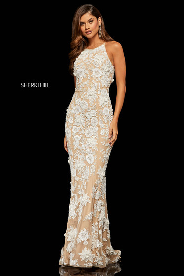 Sherri Hill 52778 White Dress