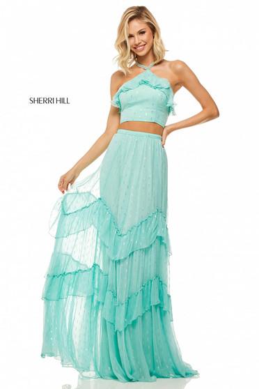 Sherri Hill 52798 Aqua Dress
