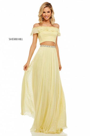 Sherri Hill 52800 Yellow Dress