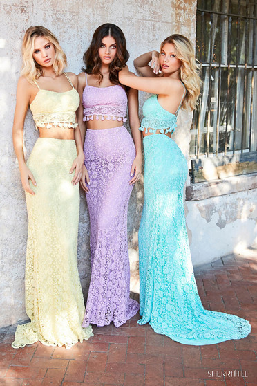 Sherri Hill 52810 Aqua Dress