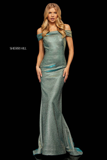 Sherri Hill 52825 Aqua Dress